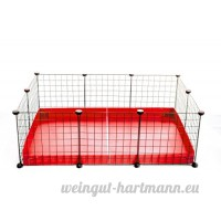 Kavee Cavy cage - coroplast metal grilles modulaire modulable loft fond accessoire rongeur cochon d'inde lapin NAC - B073RQWVF1