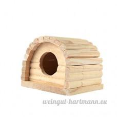 Maison en Bois pour Petits Animaux Jouet à Mâcher de Hamster par Awhao E - B072BG7ZLW