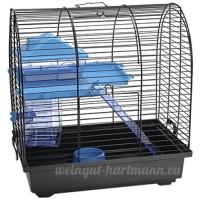 BEEZTEES Grim 2 Cage pour Rongeur Noir/Bleu - B007Q1ANO4