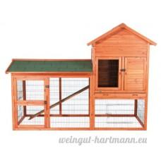 """Trixie - 62332 - Clapier à lapins """"Natura"""" - Avec enclos à l'air libre - 199 x 146 x 93 cm - B000WFCFTM"""