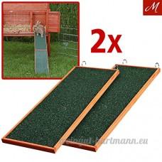 Trixie Rampe en bois 20x 50cm pour petit animal en cage  Lot de 2 - B019QSJA0W