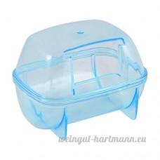 Plastique détachable Animal de compagnie gerbille Maison de hamster Cage jouer Habitat Bleu - B01GJX74XW