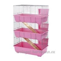 Little Friends Cage à 3niveaux pour lapin Rose 80cm - B005CAWULU