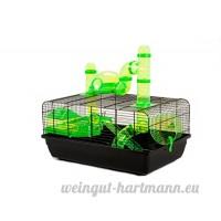 Little Friends Landmark Cage avec accessoires pour rongeurs  petite  58x 38x 29cm  Vert - B005CAW96Q