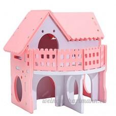 Brightcactus Maison/Maisonnette/Villa en Bois Pour Hamster Nain Souris Rat Gerbille Petits Rongeurs,Bois Naturel Maison de Hamster - B07DCNCVVF