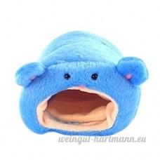 Kentop Nid Animaux Cage House lit Bleu Litière de hamster Pour petit animal Nid 1PCS 11*11cm - B07DCD2P1P