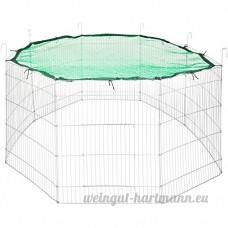 TecTake Enclos extérieur avec filet de protection pour petits animaux | Diamètre env. 204 cm | Vert - B0746FZ535