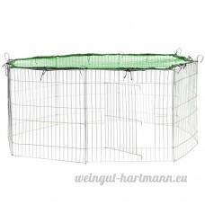 TecTake Enclos extérieur avec filet de protection pour petits animaux   Diamètre env. 145 cm - diverses couleurs au choix- (Filet vert   no. 402394) - B072XBPT8N