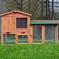 Zooprimus Cage Clapier Enclos lapin Extérieur en bois de pin Haute Qualité 145x53x86 cm Villa Lapin - B009R8YFMA
