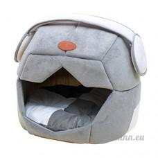 WYF LITS Chat/Chien Lit Animal Grotte Et Maison Mignonne Espace Chapeau Style Maison Bleu Gris  - B07D3RG9TX