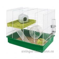Ferplast Duo Cage pour hamster avec accessoires Barreaux blancs - B001MZWNFM