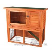 Trixie - 62302 - Clapier à lapins Natura - Avec enclos à l'air libre - 116 x 97 x 63 cm - B000WFFZBW