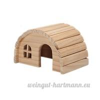 emours naturel à mâcher pour hamster Petit  cabine en bois - B017BTASMC