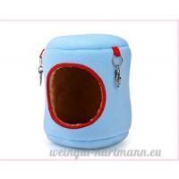 Kentop Couche Nid Animaux Cage House lit Pour Chien Lapin Hamster Écureuil Chinchilla Cochon d'Inde petit animal Nid 2PCS (12*12*10 cm Bleu M) - B07DCC6HZW