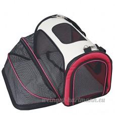 Petsfit Cage de Transport Extensible et Pliable pour Chiens et Chats  Rouge (Moyen : 50cm x 29cm x 31cm) - B016EL4202