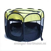 UFFD Pet Fence Portable Pliable - Grande Cage Intérieure/Extérieure Yellow M - B07D6GQ472