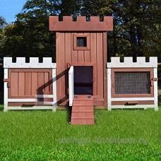 Zooprimus 015 château cage clapier enclos lapin extérieur en bois haute qualité pour lapins petits animaux - B009UCRZ8O