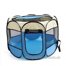 UFFD Pet Fence Portable Pliable - Grande Cage Intérieure/Extérieure Blue M - B07D6GHFRY