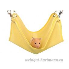 Kentop Hamac Panier Pet Nid Chaud Couche Nid Jouets Couchage Engrener Tissu pour Hamster Rat Oiseau 1PCS (Jaune 16*15cm) - B07DC2TBXV