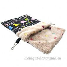 Roblue Petit Sac de Couchage pour Hamster Squirrel Pays-Bas Cochon Animaux Domestiques Lavable en Peluche - B07D31LRPY