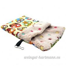 Roblue Petit Sac de Couchage pour Hamster Squirrel Pays-Bas Cochon Animaux Domestiques Lavable en Peluche - B07D2Y73XT