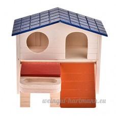 Su-luoyu Maison Villa luxe Cabine en Bois pour Hamster écureuil petits animaux de compagnie avec Escalier - B07CTNCFM3