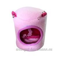 Artistic9 Cage Hamster doux et chaud  Extra Petite maison de couchage pour animal domestique  animal de petite taille Lit Grotte  mignon Hamster Rat Coton Hamac jouet - B07CSR3WQR