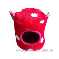 Artistic9 Extra Petite maison de couchage pour animal domestique  doux et chaud pour hamster Cage  animal de petite taille Lit Grotte mignon Nid avec crochet pour hamster Guinée - B07CRX935H