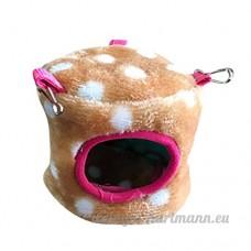 Artistic9 Extra Petite maison de couchage pour animal domestique  doux et chaud pour hamster Cage  animal de petite taille Lit Grotte mignon Nid avec crochet pour hamster Guinée - B07CRVQVGL