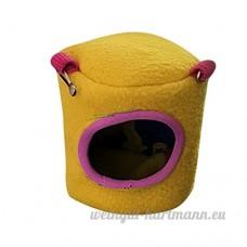 Artistic9 Cage Hamster doux et chaud  Extra Petite maison de couchage pour animal domestique  animal de petite taille Lit Grotte  mignon Hamster Rat Coton Hamac jouet - B07CRVDCPK