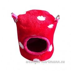Artistic9 Extra Petite maison de couchage pour animal domestique  doux et chaud pour hamster Cage  animal de petite taille Lit Grotte mignon Nid avec crochet pour hamster Guinée - B07CRSC16N