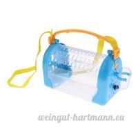 non-brand MagiDeal Boîte de Transport de Hamster Cage Maison de Petit Animaux Couchage pour Hamster Cochon d'Inde etc. - Bleu - B07CN6DC8X