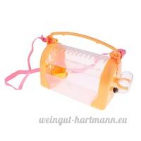 MagiDeal Boîte de Transport de Hamster Cage Maison de Petit Animaux Couchage pour Hamster Cochon d'Inde etc. - Orange - B07CN2TDQH