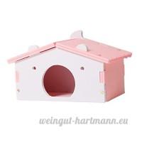 Sharplace Couchage de Hamster en Bois Jeu Dormir de Hamster Cochon d'Inde Mignon - Rose - B07CHP1K48