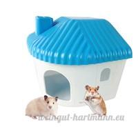 Yunt Maison de Hamster Nid de Couchage Chambre Fixable et à Suspendre pour Petits Animaux de Compagnie (Bleu) - B07C4TMW2M