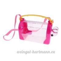 Dolity 2-en-1 Boîte de Transport Cage de Hamster Maison pour les Petits Animaux en Plastique - Rose - B07C2QTNF3