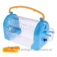 Sharplace Boîte de Transport de Petits Animaux Cage Couchage de Hamster Furet Lapin Cobaye Rat Souris - Bleu - B07BY8ZB64