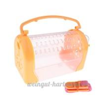 perfk Boîte de Transport Maison Couchage pour Hamster Petit Animal - Orange - B07BY4DP7X