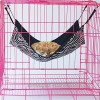 Pomelol Pet Cage Hamac à pois Petit Animal Chien Chiot Animal domestique Kitty chaton Furet à suspendre Hamac Lit Sleepy Pad Doudou - B07BS851JL