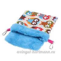La Cabina Parrot Pet Blanket Mat Hamster Sac de Couchage Lit en Coton Petit Nid d'animaux Maison pour Petit Animaux Perroquet Chinchillas - B07BRDSTP3