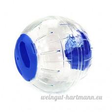 Kiao Boule de Hamster Lapin Rat Gerbille/Jogging Boule Plastique/Grounder pour Animal Domestique Petit-Bleu - B076CXJQKK
