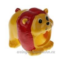 MagiDeal Hamster Cachette Couchage Froid d'Eté Maison pour Petit Animal Gerbille - Motif Animaux - Petit Lion - B07BQW7P8J
