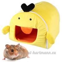 Petit Lit Animal  Legendog Hamsters Lit Mignon Pliable Nid D Animaux de Compagnie pour Les Lapins Rats Perroquets M - B07BLTS4Y5