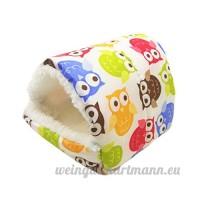Roblue Petit Sac de Couchage pour Hamster Squirrel Pays-Bas Cochon Animaux Domestiques Lavable en Tissu - B07D35VKB5