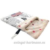 Roblue Petit Sac de Couchage pour Hamster Squirrel Pays-Bas Cochon Animaux Domestiques Lavable en Peluche - B07D2ZK32K