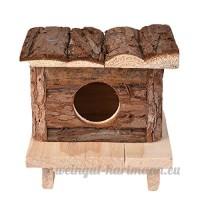 Su-luoyu Maison Villa Cabine en Bois Naturel pour Hamster écureuil petits animaux de compagnie - B07CTLXHPY