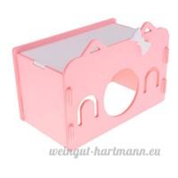 Dolity Couchage Dormir de Hamster Jouet en Bois Lit Cage de Petit Animaux Mignon - Rose - B07C8NWJYR