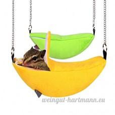 Lunji Banana Style nid pour hamster en peluche  à suspendre Lit balançoire Jouets pour écureuil Mouse Cage pour petit animal jouet - B07C5N2TGB