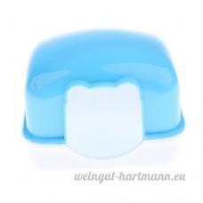Dolity Mini Cage de Hamster Maison pour les Petits Animaux en Plastique - Bleu - B07C2SBQ3X
