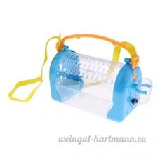 Homyl Boîte de Transport de Hamster en Plastique Jeu Couchage pour Hamster Cobaye Portable - Bleu - B07BXXMTV3